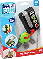 My First Keys are just like mum and dad's car keys. When children press the button, the electronic key holder displays a coloured light and realistic sound effects are triggered. Pressing the three buttons, your child will discover colours, realistic...