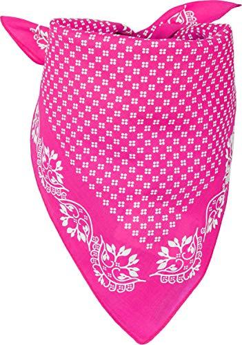 styleBREAKER Dames driehoekige sjaal katoen met bloemenmotief, multifunctionele sjaal, bandana 01016201