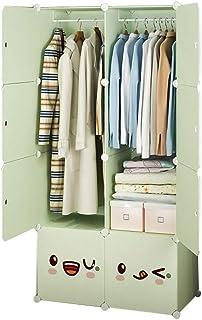 Simple Armoire Moderne Minimaliste Stockage Simple Dortoir Tissu for Enfants Petit Closet Assemblée Location Plastique Tis...