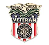 Coins For Anything Inc Army Veteran Lapel Pin - US Army Veterans Hat Pin - USA Veteran Pins - Vet Owned Company! Officially Licensed Product