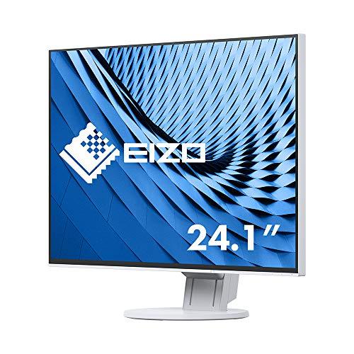 EIZO FlexScan EV2456-WT 61,1 cm (24,1 Zoll) Ultra-Slim Monitor (DVI-D, HDMI, D-Sub, USB 3.1 Hub, DisplayPort, 5 ms Reaktionszeit, Auflösung 1920 x 1200) weiß