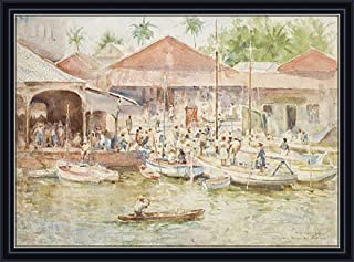 Tuke (The Market, Belize, British Honduras, 1924) Print on Fine Art Paper Reproduction Framed with 2.6