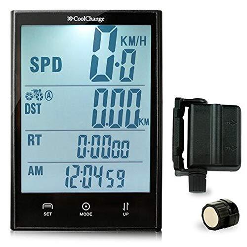 EDW Inalámbrico de Bicicletas Ordenador cuentakilómetros velocímetro con Velocidad y Sensor de...