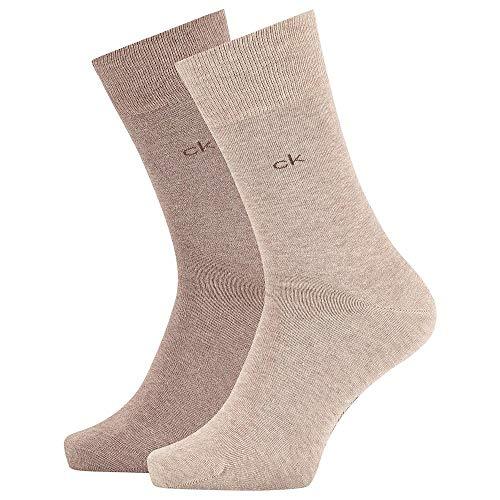 Calvin Klein Socks Herren Sneakersocken ECP275, 2er Pack, Schwarz, 43/46 Calzini, Green Combo, Uomo