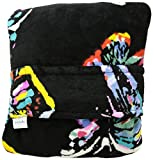 Vera Bradley Women's Fleece Fleece Travel Blanket with Trolley Sleeve