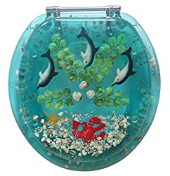 Seashell Toilet Seat with Dolphins