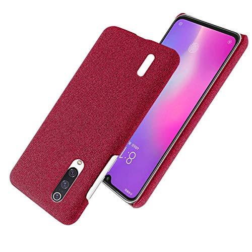 FINEONE Funda Ultra Delgada para Xiaomi Mi 9 Lite Funda, Fundas De Teléfono Totalmente Protectoras a Prueba De Golpes con Antideslizante para Teléfono Inteligente Xiaomi Mi 9 Lite. Rojo