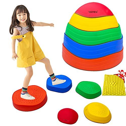 YYCMEWレインボーバランスストーン バランスボード 子供用 体幹 トレーニング 安全 屋内 遊具 [遊びで子供のバランス感覚と運動能力がアップ]六歳以上