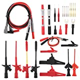 28Pcs Multimeter Test Lead Kit, P1300F Banana Plug 4mm Alligator Crocodile Clip Probes Test Hook Set,Electronic Repair Test Kit