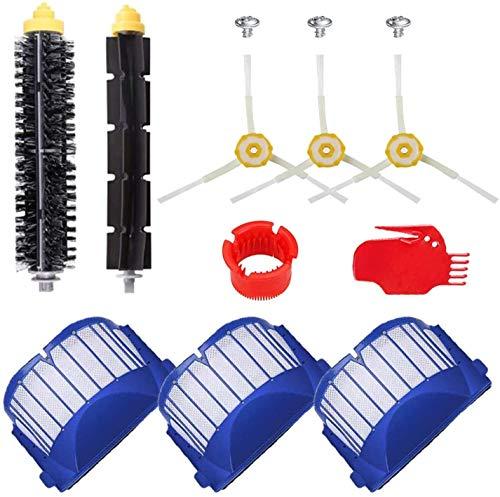 Cepillos laterales y cepillos de rodillo y filtros para Xiaomi Vacuum 2 / 1S para Roborock S50 S51 S6 para MI Robot aspirador piezas (color SMT159) Kit de accesorios (color: SMT107)