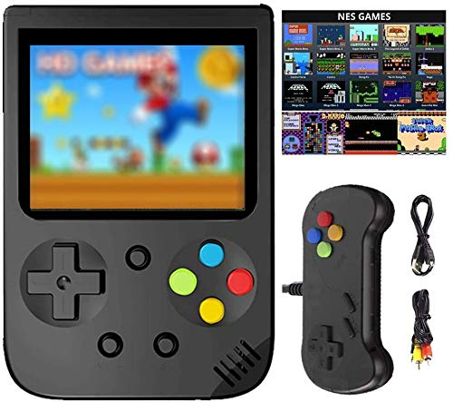 HDStore New Game Consoles for Nintendo N E S Built in 500 in 1 Classic Best Video Gaming Consoles Built-in 1020mAh Rechargeable Battery, Support L,R Button and Connecting TV and Two Players