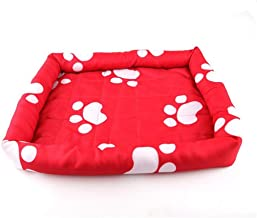 Pengcher Water Resistant Dog Crate Bed for Summer(Red,M) for Pet Dog Blanket