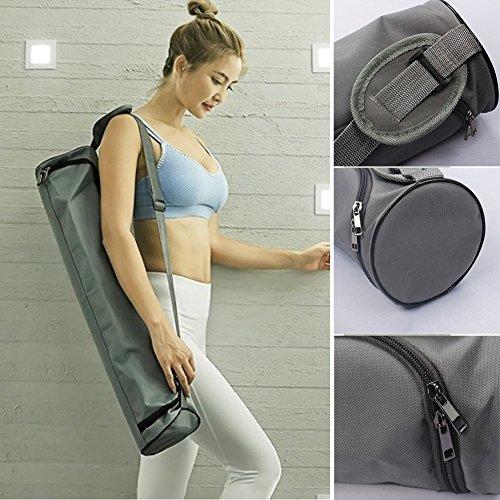 Tookie - Bolsa de Yoga para Pilates, Impermeable, con Cremallera de Longitud Completa, Correa de Hombro Ajustable, Bolsa de Gimnasio Ligera
