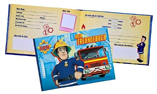 Freundebuch Kompatibel mit Feuwehrmann Sam ideal auch für die Vorschule im Kindergarten oder Schule