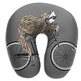 Nackenkissen,Fahrrad-Reisekissen Für Tiere, Tragbares Reisekissen Für Den Heimcomputer,30x30cm