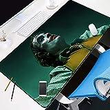 JIACHOZI Alfombrilla de Ratón Grande Payaso de película con labios rojos 900×400×3 mm Alfombrilla para Juegos XXL Alfombrilla de ratón para computadora, Adecuada para Grandes almohadilla de escritorio
