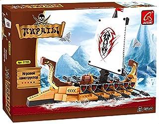 Ausini 27705 Pirate Ship Shaped Building Blocks, 431 Pieces - Multi Color