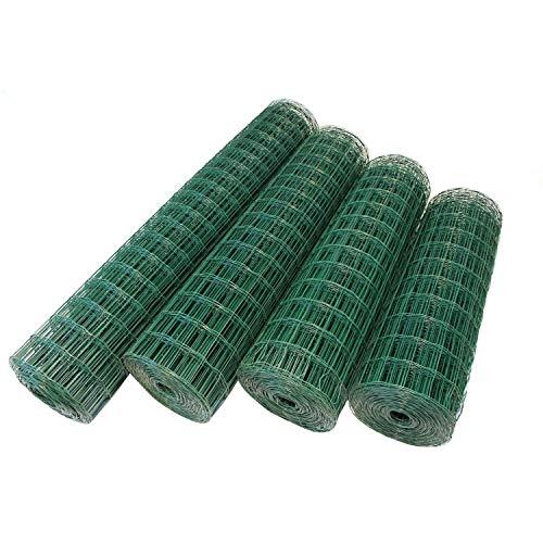 Top-Multi Maschendrahtzaun Wildzaun Gartenzaun PVC-beschichtet GRÜN 76mm x 63mm x 1,2m x 10,0m
