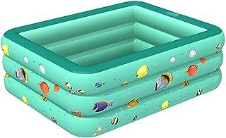 Wasvidra Inflatable Pool, Inflatable Kiddie Swimming Pool Lounge Pool for Baby, Kiddie, Kids Outdoor, Garden, Backyard Children Inflatable Swimming Pool Inflatable Bathtub Kids Summer Water Fun Play