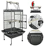 61/68 Inches Large Bird Cage Play Top Parrot Cockatiel Parakeet Chinchilla Macaw Cockatoo Cage W/Stand Perch Pet Supplies
