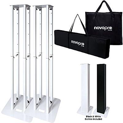 Novopro PS1XL DJ Disco Height Adjustable Lighting Plinth Podium Stand (Pair)