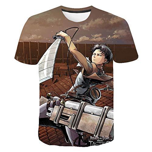 JFLY Attack On Titan 3D Print t Shirt Anime Streetwear Hombres Mujeres Moda O-Cuello Camiseta Harajuku Hip Hop Camisetas Tops Ropa Hombre