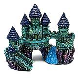 Miniatura acuario Castillo ornamento artificial herramientas Castillo Submarino paisaje de la decoración del acuario Castillo mascotas