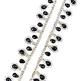 Huixu, cadena de copa de diamantes de imitación de cristal con gota de agua...