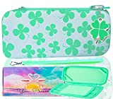 Jupsddth Cute Shamrock Pattern Carrying Case, Decorated with Boy Or Girl Green, Pink, Purple, White, Red, Yellow, Lemon, Black Carrying Case for Nintendo Switch Case.