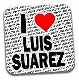 Posavasos con texto en inglés'I Love Luis Suarez Drinks' – regalo – cumpleaños – Navidad – calcetín de relleno