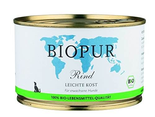 Biopur Comida para Perros orgánica, Precio Ligero: Vacuno, 400 g, 12 Unidades (12 x 400 g)