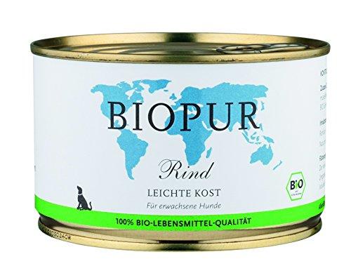 Biopur Cibo biologico per cani, 400 g, confezione da 12 (12 x 400 g)