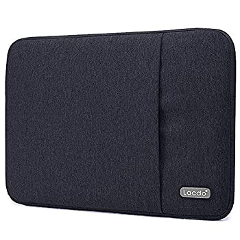 Lacdo 11 inch Chromebook Case Laptop Sleeve for 11.6  Samsung Lenovo Dell Acer Chromebook R11 | ASUS C202 | HP Stream/ProBook | 11.6  MacBook Air | Surface Pro X 7 6 Water Repellent Computer Bag,Black