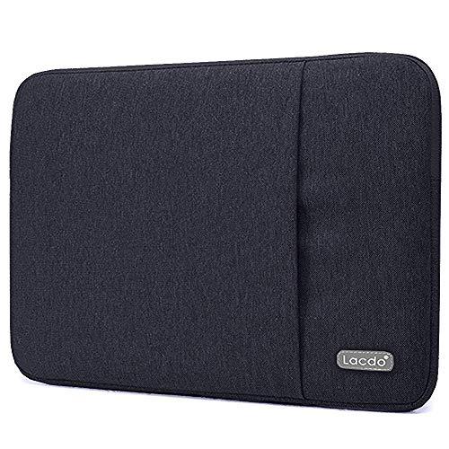 """Lacdo 14 polegada Capa para HP Stream 14, ASUS Zenbook VivoBook Flip 14, ACER Aspire/Chromebook 314, Dell Latitude E7440 / Inspiron Bolsa de repelente de água sleeve para laptop 14"""", Preto"""
