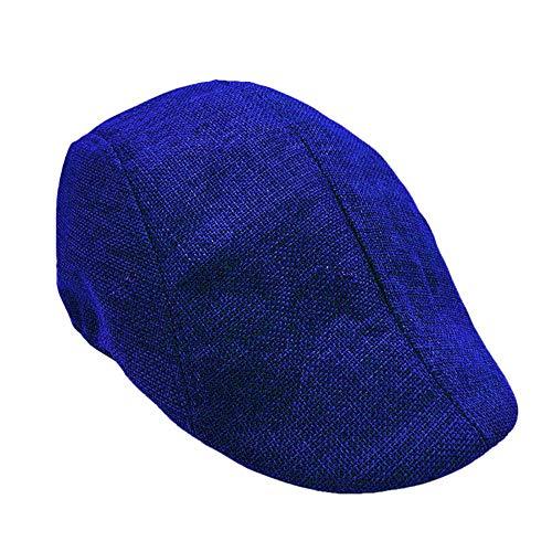 TUDUZ Schirmmützen Mode Herren Hut Kappe Warm Halten Schiebermütze Barette Traditionelle Flatcap in Mehreren Farben(,Blau)