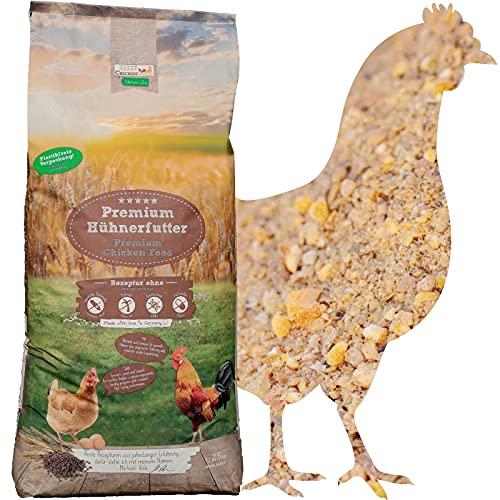 ChickenGold Hühnerfutter - 25kg Legemehl - ohne Gentechnik - Legefutter für Legehennen