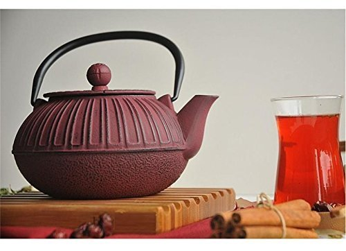 Cast İron Teapot, Claret Teapot, Hand Painted Teapot, Teapot gift,