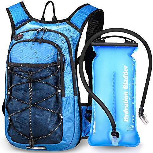 EMDMAK Hydration Pack Backpack with 2L Water Bladder for Outdoor Hiking Running Cycling...