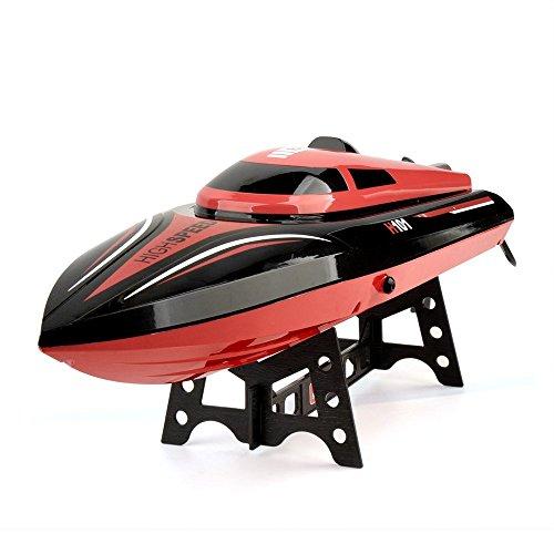 SainSmart Jr. Speedboot RC 30 km/h Ferngesteuertes Boot High-Speed Rennboot, 4CH 2.4 Ghz Großfunkgesteuertes Boot Racing Boot für Anfänger und Kinder