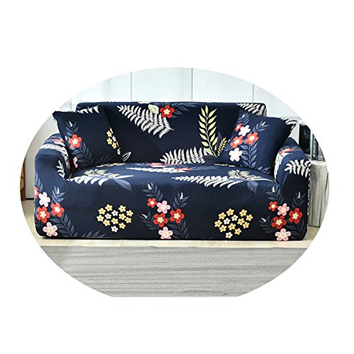 Circle Leaf Print Sofa Cover Night Forest Couch Cover Tight Wrap Slip-Resistant For Living Room Couch Cover L Shape Armchair 6 45-45cm Pillowcase-2