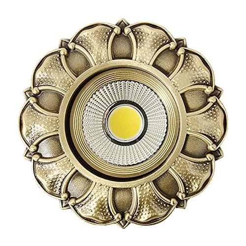 Focos Led Interior Techo, Led Empotrable Protección Ocular De Luz Suave Bronce Luz Hacia Abajo / LED Puntual 3W 5W 7W 10W Para Cocina Pasillo Sala De Estar Dormitorio Comedor,Bronze spotlight,3w
