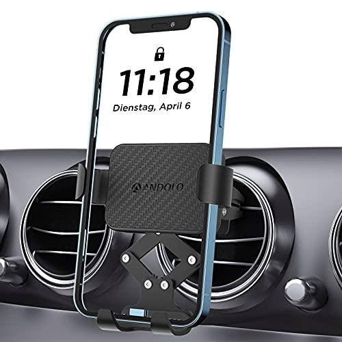 Soporte de teléfono móvil para coche, soporte para rejilla de ventilación de coche, brazo tensor automático para iPhone11 Pro, XR, X, 8,Samsung S10 S9, Huawei y otros smartphones de 4,7 a 6,8 pulgadas