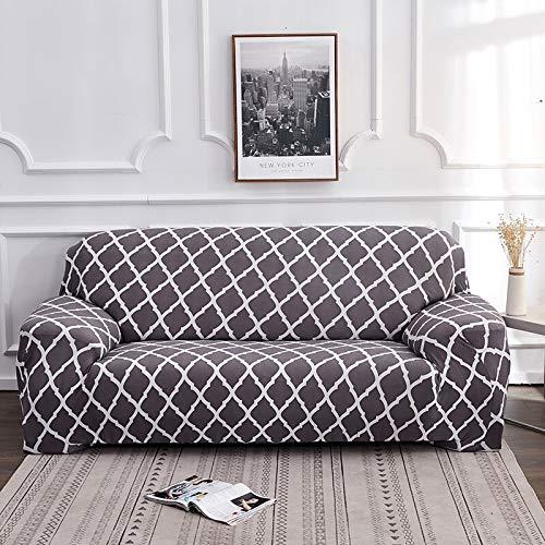 PPOS Fundas de sofá con Estampado de Cuerdas para Sala de Estar Fundas elásticas elásticas para sofá de Esquina seccionales A8 Loveseat 145-185cm-1pc