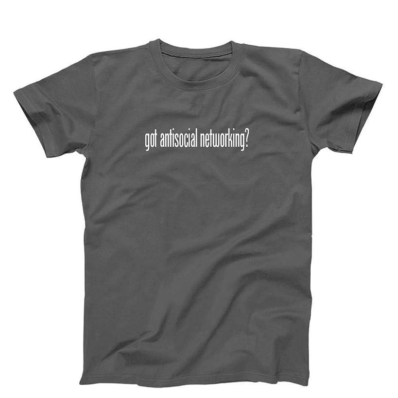 3 O'Clock Gift Shop got Antisocial Networking? T-Shirt, Grey - Medium