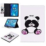 MAXJCN Handygehäuse für Huawei MediaPad M5 10,8 Zoll / M5 Pro 10,8 Zoll (2018 Release), Cute Panda Schmetterling Eule Design Blume Tablet Caso mit Slot for Scheda, Be