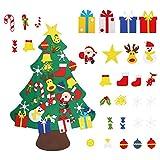 GONFOWE Fieltro Árbol de Navidad,3.2ft DIY Árbol de Navidad con 30 Adornos Navidad Decor...