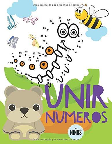 Unir Numeros: Libro de actividades para niños, Unir puntos infantil, Unir puntos numeros niños 3-6 años.