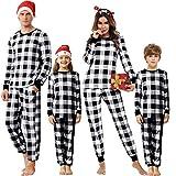 Akalnny Matching Family Pajamas Sets Christmas PJ's with Plaid Long Sleeve and Pants