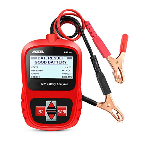 ANCEL BST200 Car Battery Load Tester 12V 100-1100 CCA Automotive Bad Cell Test Tool Digital Analyzer