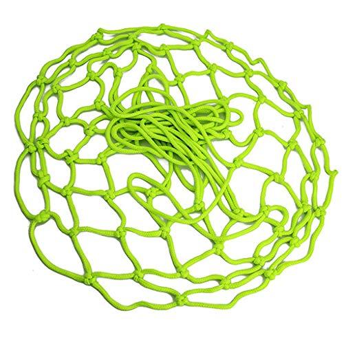 WT-DDJJK Red de aro de Baloncesto, Red estándar de Baloncesto de Repuesto Luminosa para Pieza Gruesa Profesional de 12 Lazos
